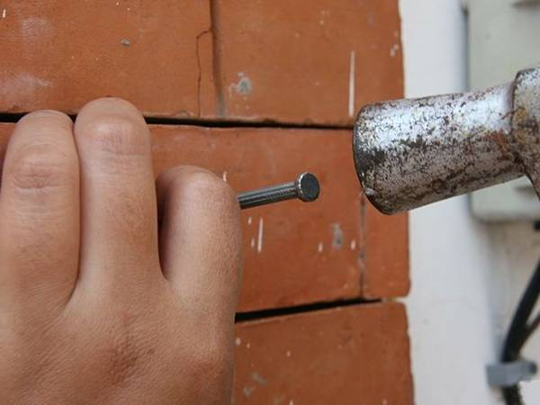 Can you hammer a nail into a brick wall logging saw
